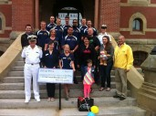 Final cheque presentation at Fredericton City Hall